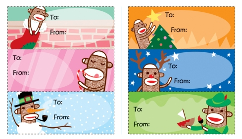 Sock Monkey gift tags!