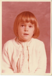 First grade. (The world really was rose-colored back then)...
