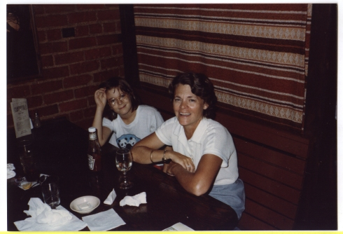 Mom and me. 1980 or so.